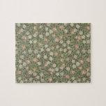Pequeño diseño del papel pintado de la flor rosada rompecabeza