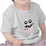 Pequeño diseño divertido fresco de la cara camisetas