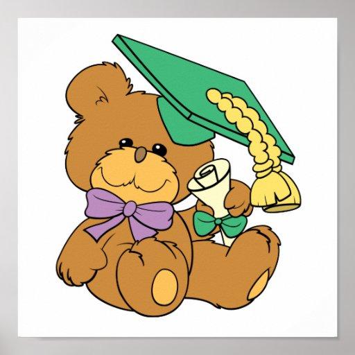 Pequeño diseño graduado lindo del oso de peluche d impresiones