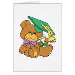 Pequeño diseño graduado lindo del oso de peluche d felicitación