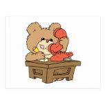 pequeño diseño lindo del oso de peluche de la postal
