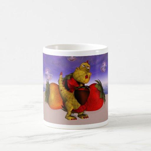 pequeño dragón lindo del remiendo taza de café