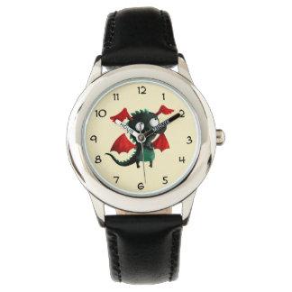 Pequeño dragón lindo relojes de mano