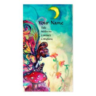 Pequeño duende de setas tarjetas de visita