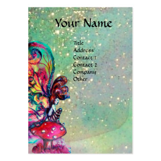 Pequeño duende de setas trullo tarjeta de visita