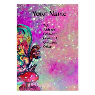 Pequeño duende de setas, violeta, púrpura tarjetas de visita grandes