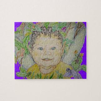 Pequeño duende y su Dragonflys Puzzle Con Fotos