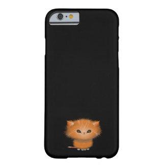 Pequeño ejemplo anaranjado del gatito del gato de funda para iPhone 6 barely there