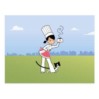 Pequeño ejemplo del cocinero en la postal