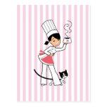 Pequeño ejemplo del cocinero encendido postales