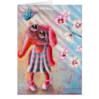 Pequeño elefante aclarado Greetingcard Tarjeta De Felicitación