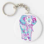 Pequeño elefante hermoso bonito llaveros personalizados