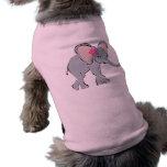 Pequeño elefante lindo camisetas de perrito
