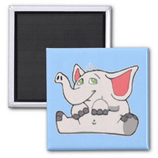 Pequeño elefante lindo iman para frigorífico