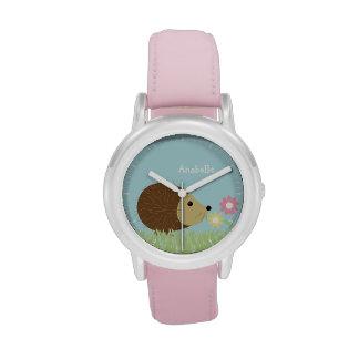 Pequeño erizo lindo personalizado relojes de pulsera