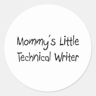 Pequeño escritor técnico de Mommys Etiqueta Redonda