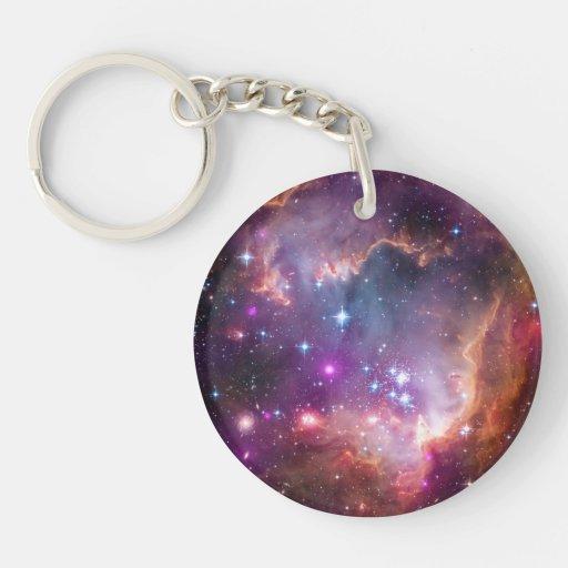 Pequeño espacio de la galaxia de la nube de llavero