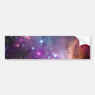 Pequeño espacio de la galaxia de la nube de Magell Pegatina Para Auto
