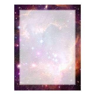 Pequeño espacio de la galaxia de la nube de Magell Plantillas De Membrete