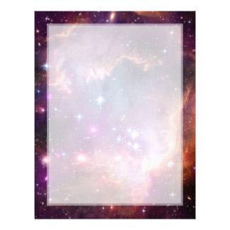 Pequeño espacio de la galaxia de la nube de Magell Membretes Personalizados