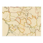 Pequeño esquema francés de los ríos postales