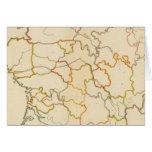 Pequeño esquema francés de los ríos tarjeta de felicitación