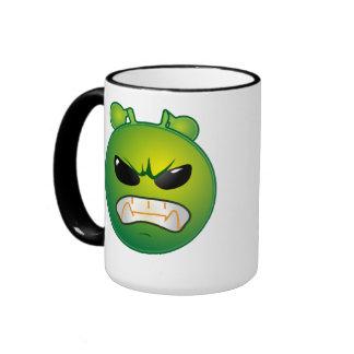 Pequeño extranjero verde fresco taza de dos colores