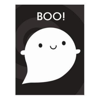 Pequeño fantasma feliz tarjeta postal