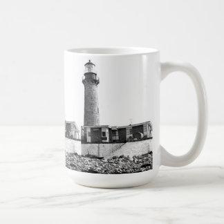 Pequeño faro de la isla de la gaviota tazas de café