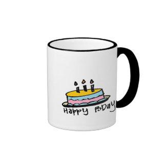 pequeño feliz cumpleaños de wobblies taza de dos colores
