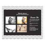 Pequeño folleto para el negocio de la fotografía tarjeton