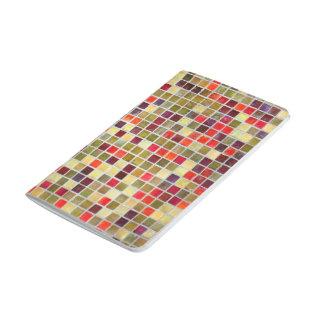 Pequeño fondo colorido del embaldosado cuaderno grapado