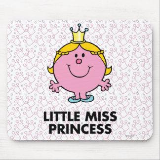 Pequeño fondo de la corona de la Srta. princesa el Alfombrilla De Ratón