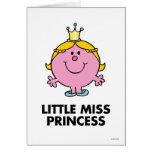 Pequeño fondo de la corona de la Srta. princesa el Tarjeta De Felicitación