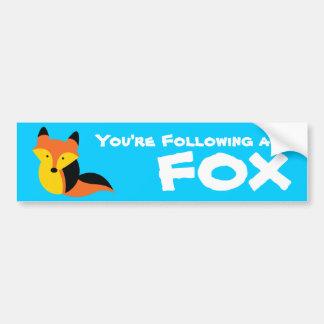 Pequeño Fox lindo Pegatina De Parachoque