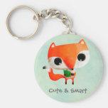 Pequeño Fox lindo Llaveros Personalizados