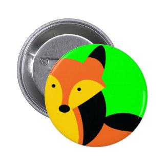 Pequeño Fox lindo Pin Redondo De 2 Pulgadas