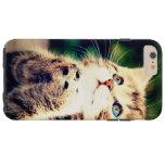 Pequeño gatito lindo funda de iPhone 6 plus tough