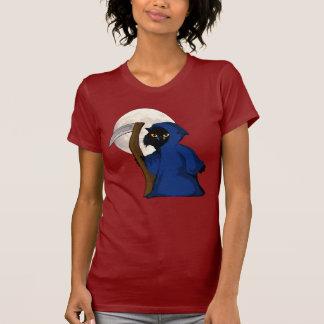 Pequeño gatito y del segador y camiseta de la luna