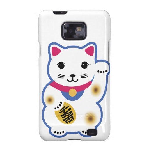 Pequeño gato afortunado, Maneki-neko, 招き猫 Galaxy SII Funda