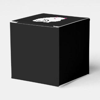 Pequeño gato blanco y mullido lindo del gatito cajas para regalos