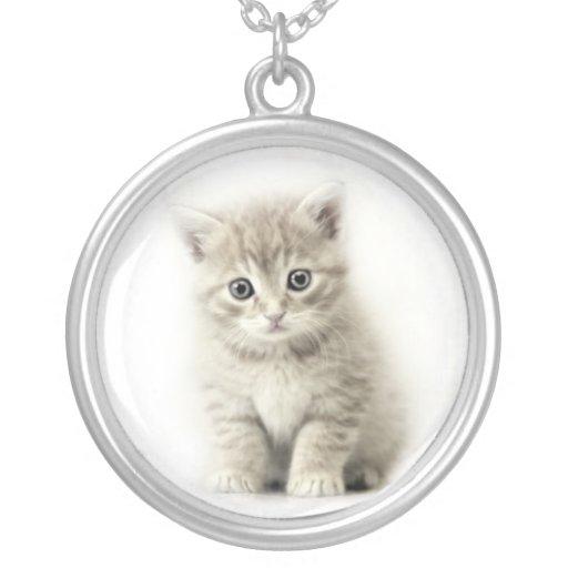 pequeño gato colgante redondo