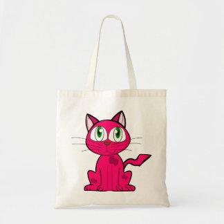 pequeño gato lindo, bolso de los chicas