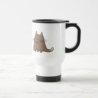 Pequeño gato rechoncho gordo lindo del gatito taza de viaje