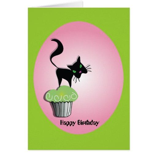 Pequeño gato tarjeta de felicitación