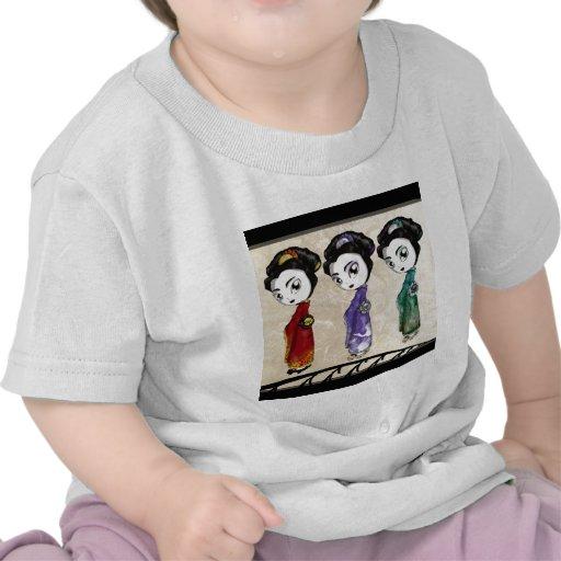 Pequeño geisha camiseta