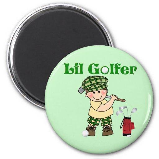 Pequeño golfista iman