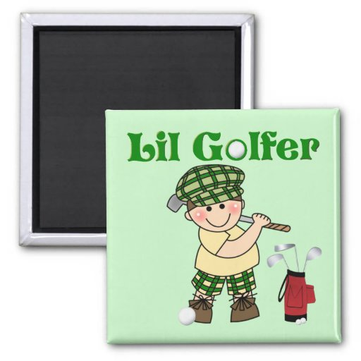 Pequeño golfista imán