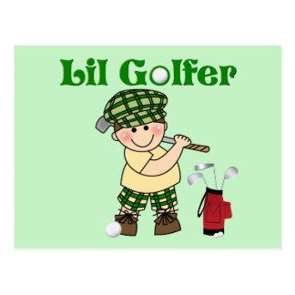 Pequeño golfista postal