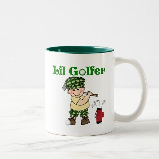Pequeño golfista taza de dos tonos